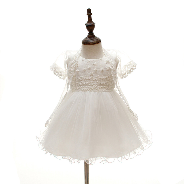 3PCS Baby Girl Wedding Dress Infant Princess Little Girls 1 Year Birthday Party Dress Newborn Christening Dresses For Girls