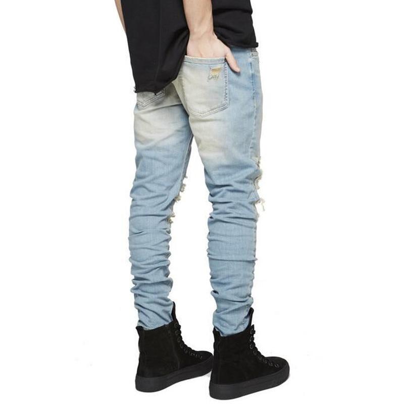 Hip hop jeans streetwear Slim Fit Ripped cool Jeans Men Hi Street ...