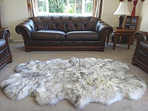 Genuine Real Sheepskin Rug Australian Royal Four Pelt Extra Large Quarto Fur Area Bedroom Carpet In From Home