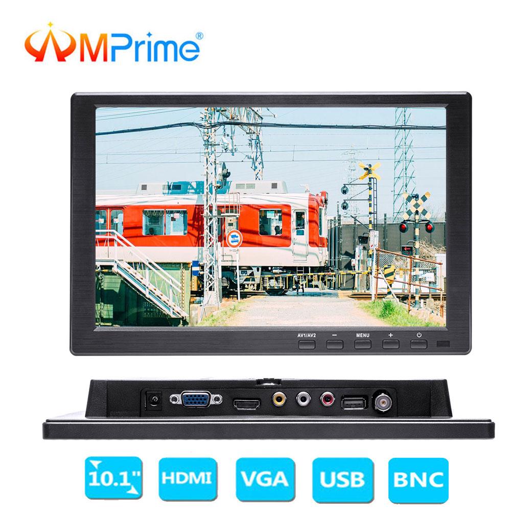 AMPrime 10.1HD Car Headrest Monitor PC/TV/DVD Player TFT LCD Screen CCTV With HDMI/VGA/AV/USB/SD Remote Control For Monitoring