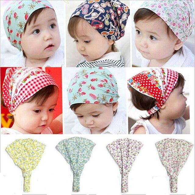 HOT Girl Bandana Hats Flower Headband Hair Wear Accessories Headscarf  Headwears 5 Colors for Kids Girls ae44a020206