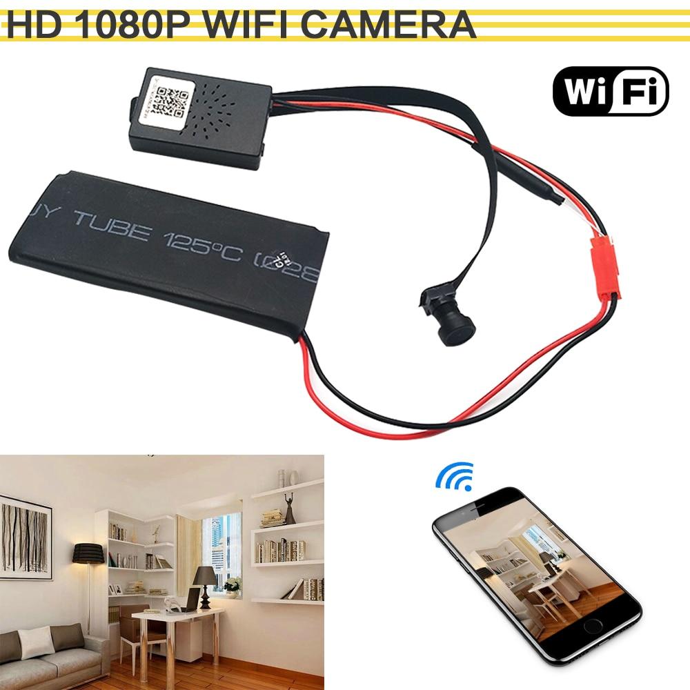 HD 1080P WIFI Network Camera P2P Mini Camera DIY Wireless Camera Module Motion Activated DV Camcorder with 3000mA Baby Monitor f
