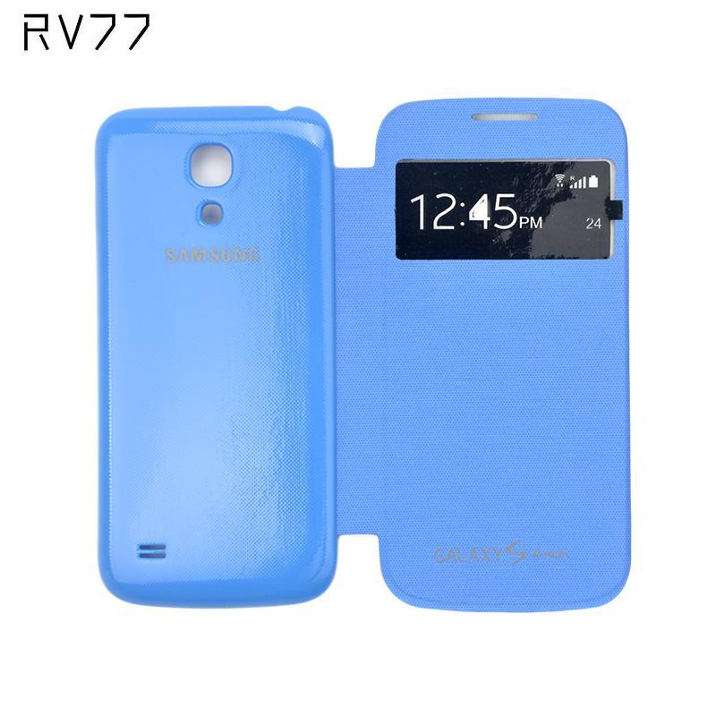Casos de teléfono para samsung galaxy s4 mini i9190 flip inteligente cubierta de