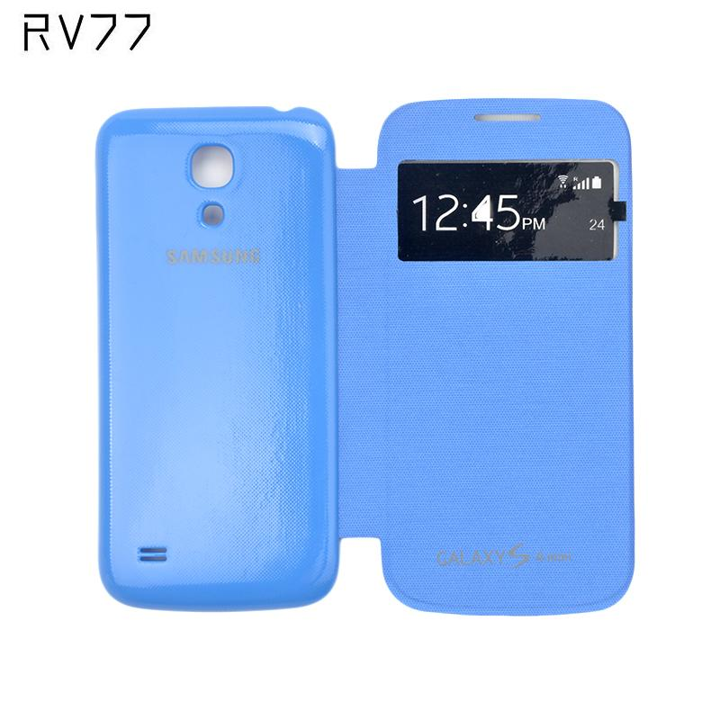 Phone Cases For Samsung Galaxy S4 Mini i9190 Flip Smart Cover View Window Case With Gift Touch Pen + Screen Film