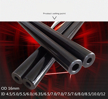 16mm O/D Hydraulic Seamless Steel Pipe Alloy Precision Tubes Explosion-proof Pipe for Home DIYprint black