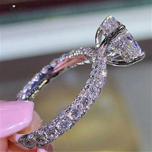 Visisap Hot Sell Dazzling Oval Round Princess Cut Zircon Ring Wedding Engagement Rings for Women Dropshipping Jewelry B2447