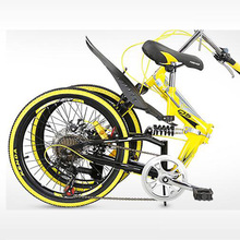 Folding bicycle portable Suitable for adult women Double V brake Commuting Alumi