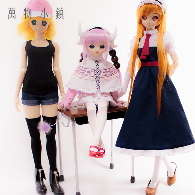 Accept custom Kobayashi-san Chi no Maid Dragon Cosplay Lukeya/Connor/Thor suit 1/3 BJD COS Doll Clothes accept custom european style black leather suit bjd uncle 1 3 sd ssdf doll clothes