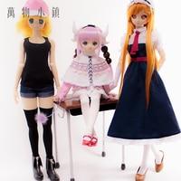 Nehmen gewohnheit Kobayashi-san Chi keine Maid Drachen Cosplay Lukeya/Connor/Thor anzug 1/3 BJD COS Puppe kleidung