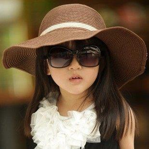 Hot style Baby girl straw sun hats sunhats kids wide brim beach hat  Children cap baby summer hat Floopy Brim Beach hat Children 80360facda3