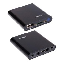 Free Shipping 3D 1080P Full HD HDD Media Player SD USB HDD Output HDMI AV Support
