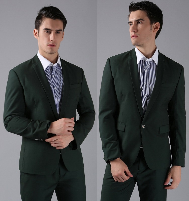 Aliexpress.com : Buy Brand New Men's Suits Dark Green One Button