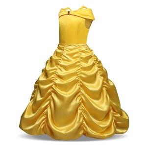 Image 3 - ความงามและ Beast Belle เจ้าหญิงคอสเพลย์ Belle เครื่องแต่งกายเด็กชุดสำหรับสาวปาร์ตี้เมจิก Stick สาวเสื้อผ้า