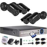 DEFEWAY 8CH 1200TVL 720P HD видеонаблюдения камера системы 1080N дома товары теле и DVR комплект 1 ТБ С Rechargerable батарея