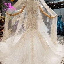 Aijingyu Jurken Voor Bruiloft Couture Jurken Wieden 2021 2020 Zijde Crop Top Turkije Indiase Lange Trein Gown Trouwjurk Vintage