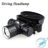 100 Meters 5000 Lumen L L2 Head Lamp LED Diving Headlamp Headlight 3 Mode Diving Headlamp Waterproof Head Torch