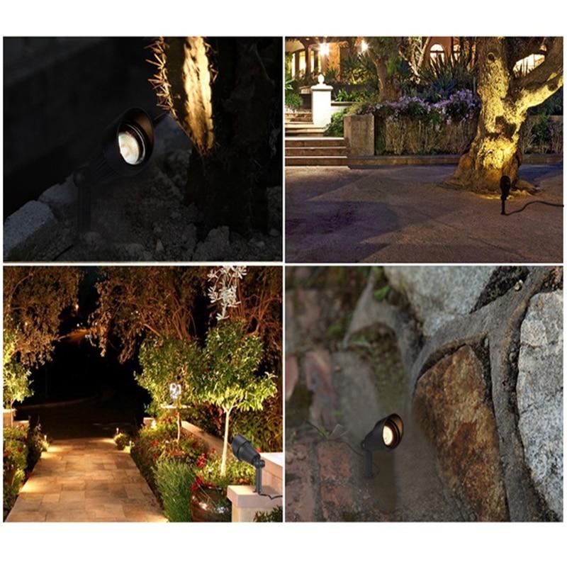 Image 5 - Spike model IP65 Outdoor led spot lamp for garden ,park ,trees ,afforest,landscape ,100 240V input 3W/6W/9W.12W.18W spot light-in Outdoor Landscape Lighting from Lights & Lighting on AliExpress