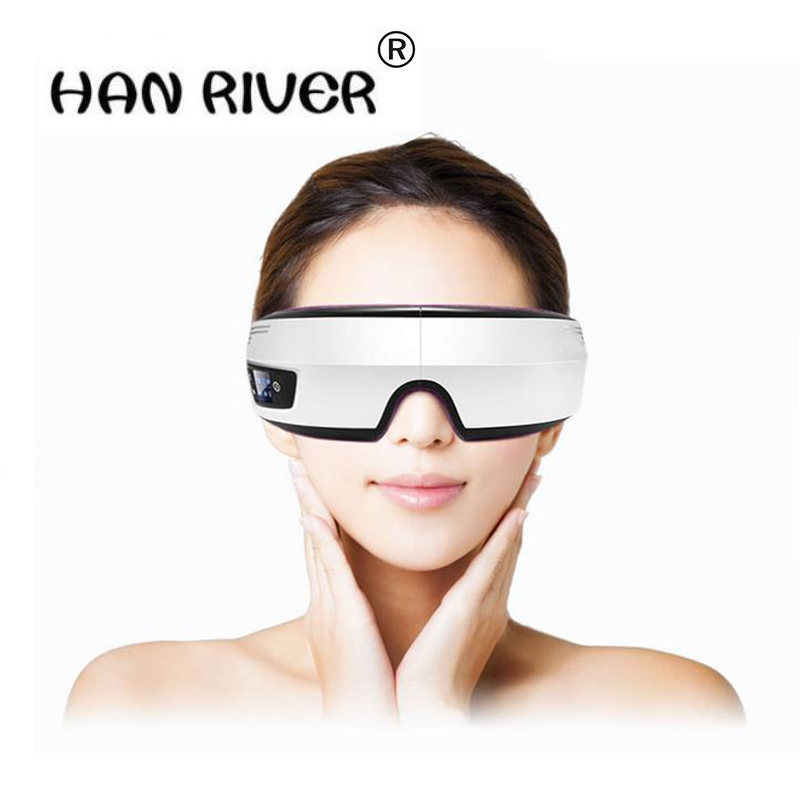 Electric Air pressure Eye massager with mp3 functions.Wireless vibration eye magnetic far-infrared heating.Usb eye care glasses цена 2017