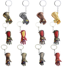 New Iron man Thanos glove model keychain Avengers 4 Infinity War key chains Marvel men and women gift keyring fashion jewelry