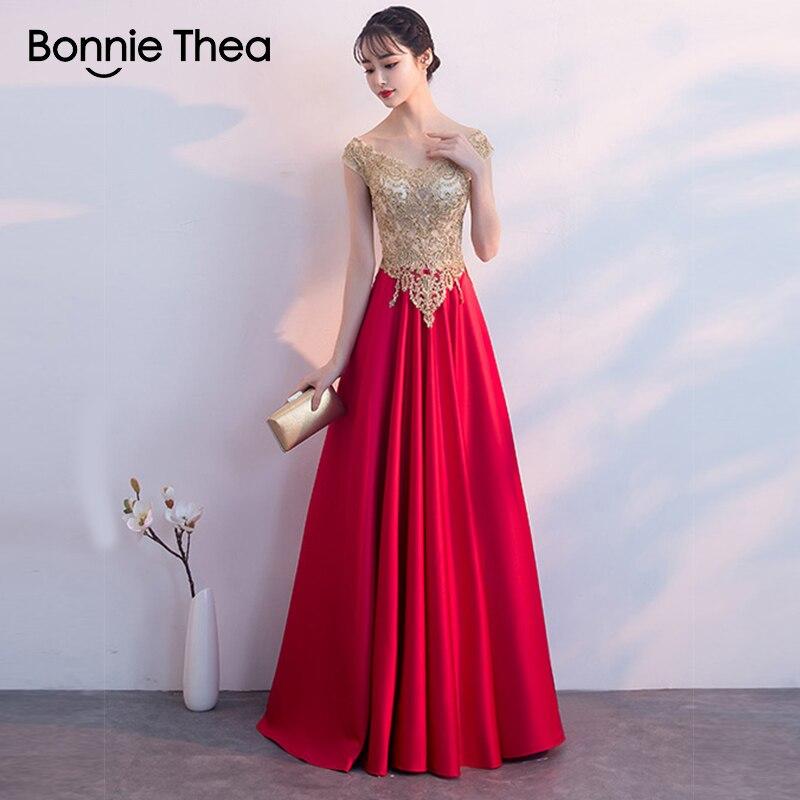 Bonnie Thea broderie femmes sexy robe de soirée automne femme robe élégante une ligne longue dames robe femmes vêtements vestidos
