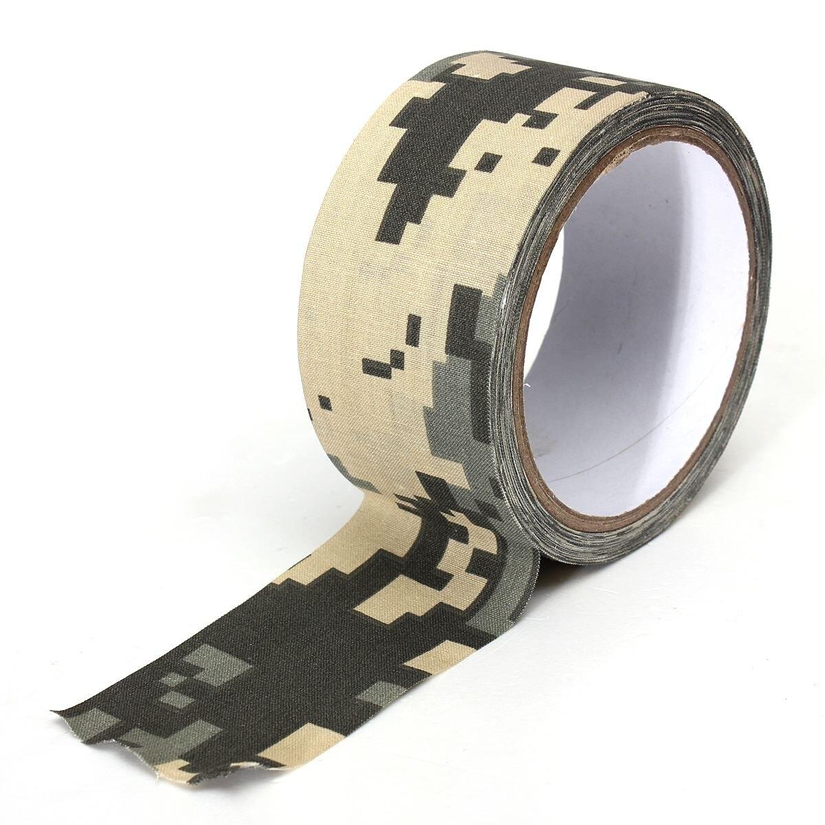1 unids 0.05 m x 10 m Militar Camuflaje Invisible Cinta Adhesiva Pistola Rifle S