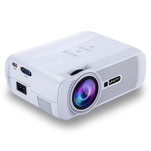 New HD 1080P Mini Projector Android 6.0 LED Home Theater Video Media Player Adjustable Picture Mode 2 Colors  EU / US Plug