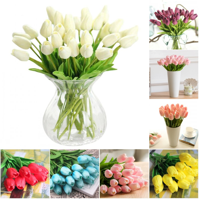 Freies Verschiffen 30 Teile Los Pu Mini Tulpe Blume Echten Hauch