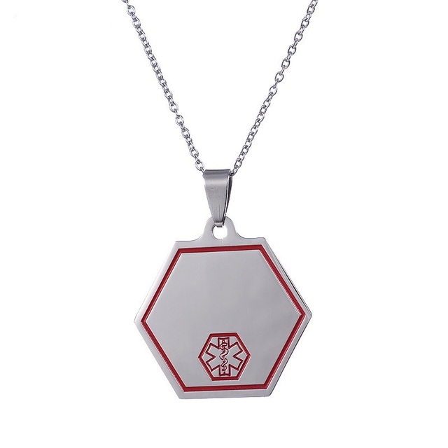 Dropshipping stainless steel red star of life pendant emt emergency dropshipping stainless steel red star of life pendant emt emergency medical technican caduceus tag jewelry for aloadofball Images
