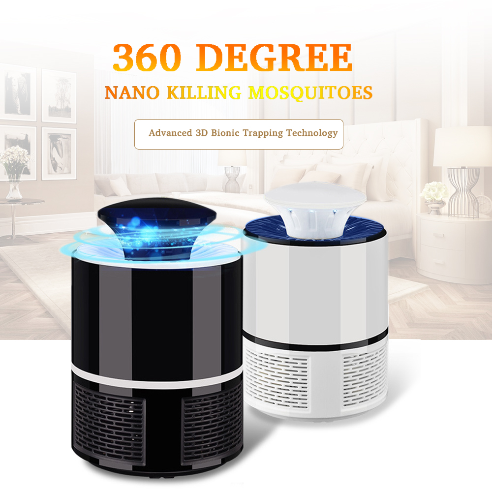 YWXLight 5W USB Mosquito Killer Pest Control Electric anti Mosquito Trap LED Pest Catcher Repeller Bug Insect Repellent Night