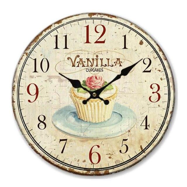 Orologio Da Parete Vintage Shabby Chic Pastello Stile floreale 34 ...