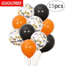 Decorate 15pcs 12inch black paper scraps latex balloons wedding event christmas halloween festival birthday party HY-350
