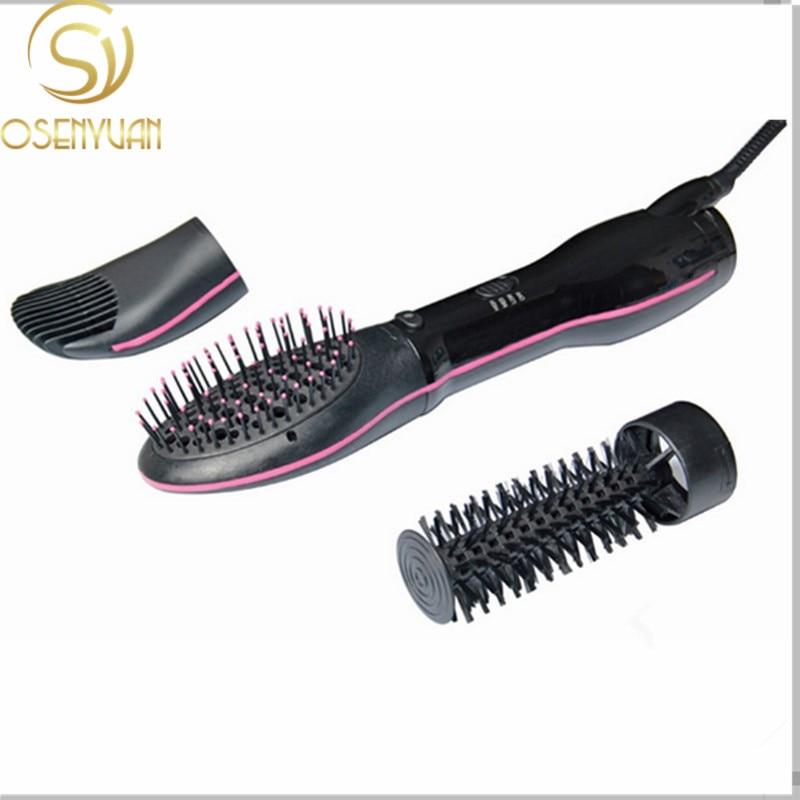 LESCOLTON Original 3 en 1 intercambiables secador Styler plancha de pelo y rizador Styling Brush peine suave
