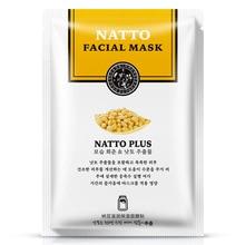 цена на 1pcs Natto Mask Hydrating Moisturizing Oil Control Acne Brighten Face Care Whitening Facial Mask MM11