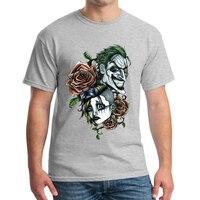 New men the Joker 3d t shirt funny comics character joker rose 3d t shirt Skull Pattern short sleeves summer tops clothes NN