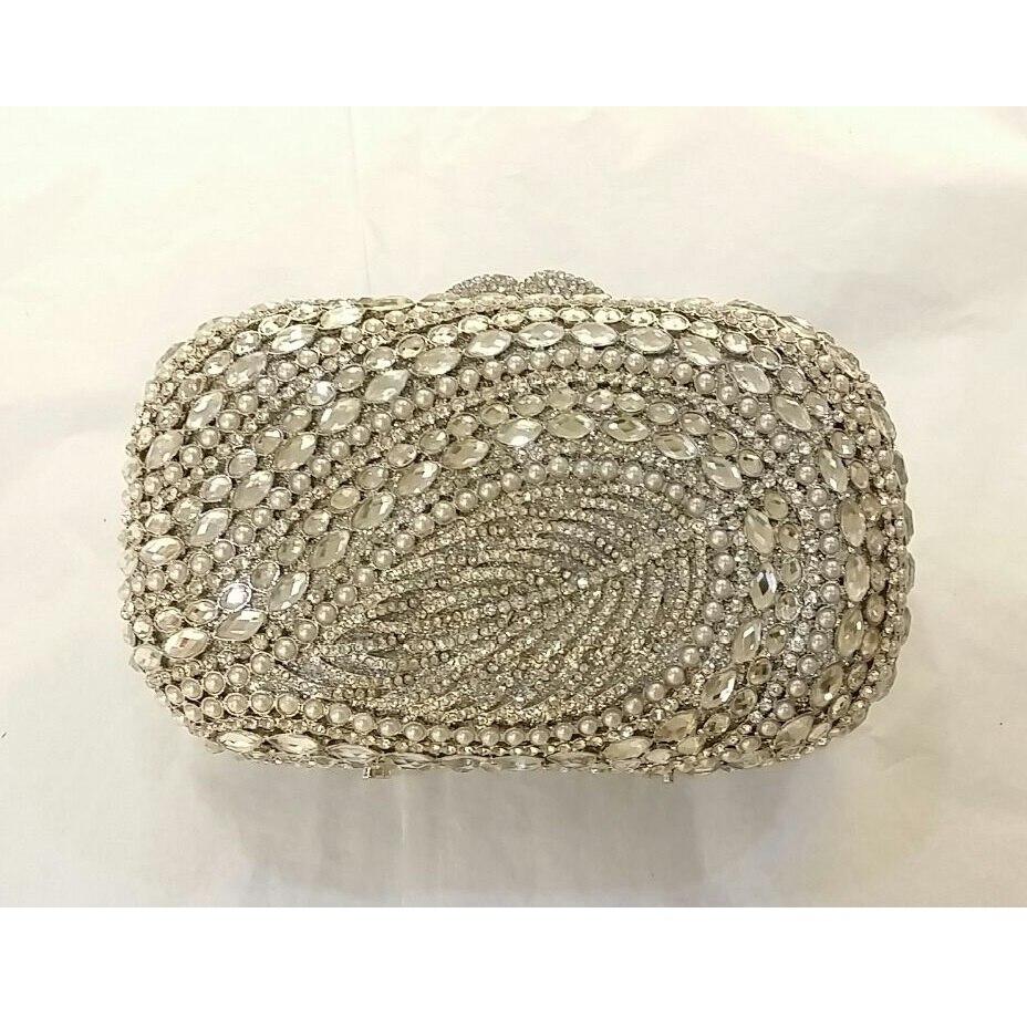 ФОТО 8319S Crystal Pearl Leave Lady Fashion Wedding Bridal Party Night hollow Metal Evening purse clutch bag box handbag case