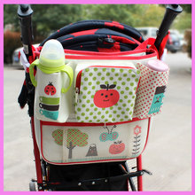 Multifunctional Baby Stroller Bag Accessories for Mum Shoulder Bag Organizer Hanging Bag Bottle Holder Diaper Baby