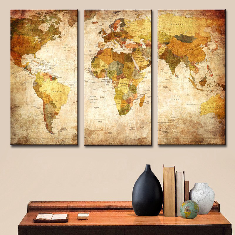 Fine Decorative Wall Maps Inspiration - Wall Art Collections ...