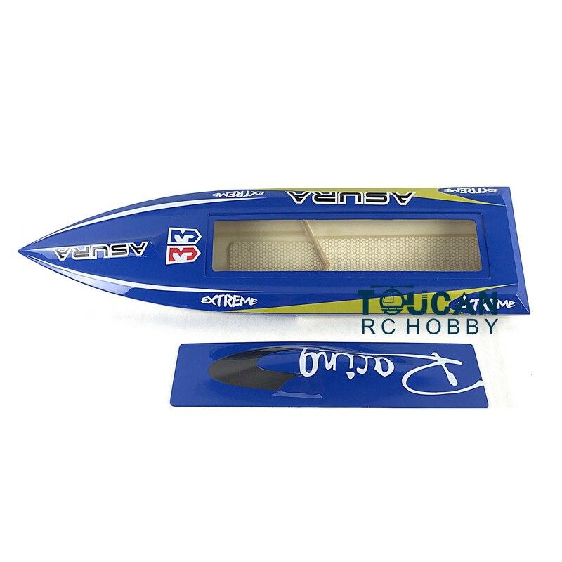 H750 KIT requin Fiber de verre vitesse de course électrique RC bateau coque seulement avancé joueur bleu TH02638