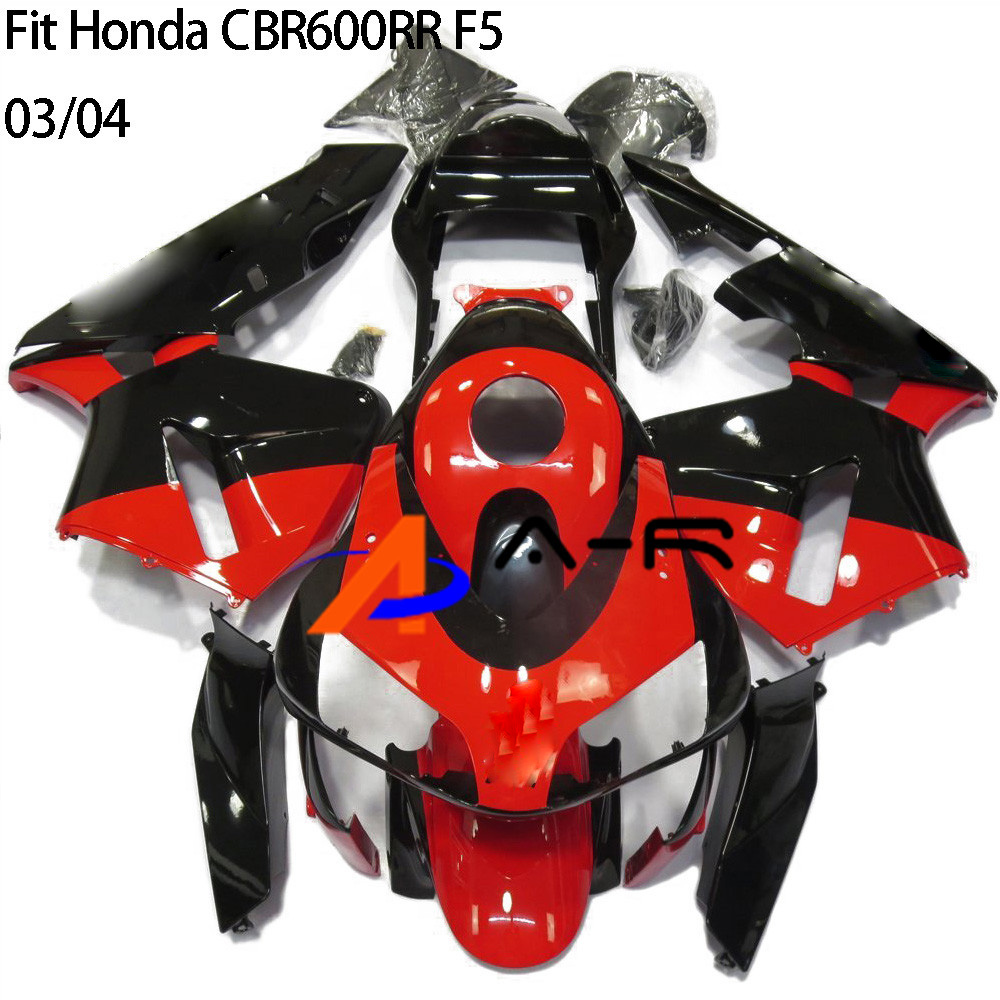 CBR 600hr F5 03 04 ABS Kit de carenado de inyección de color rojo para Honda cbr600hr F5 2003 2004 Kits de carenados de carrocería