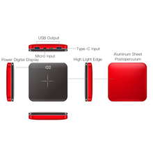 Portable Wireless Power Bank with Dual USB