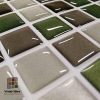3D Effect Waterproof Vinyl Wallpaper 3D Peel and Stick Mosaic Wall Tiles Sticker - 1 Sheet