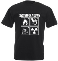Summer Dress 2014 SYSTEM OF A DOWN T Shirt Men Short Sleeve 100 Cotton Printed Custom