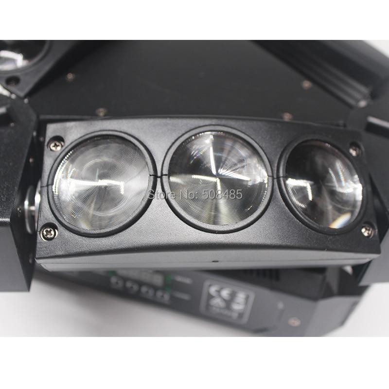 NOUVEAU 9x12w RGBW 4in1 Spider LED Faisceau Tête Mobile Lumière - Éclairage commercial - Photo 5