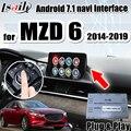 Android 7 1 мультимедийный интерфейс gps навигационная коробка для Mazda 6 .. 2014-2019 поддержка android auto  carplay по Lsailt