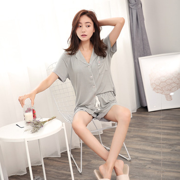 Modal Pijama Shorts Women Two Piece Short Pajama Set Pyjama Shorts Button Top and Womens Sleep Shorts Summer Sleepwear 6