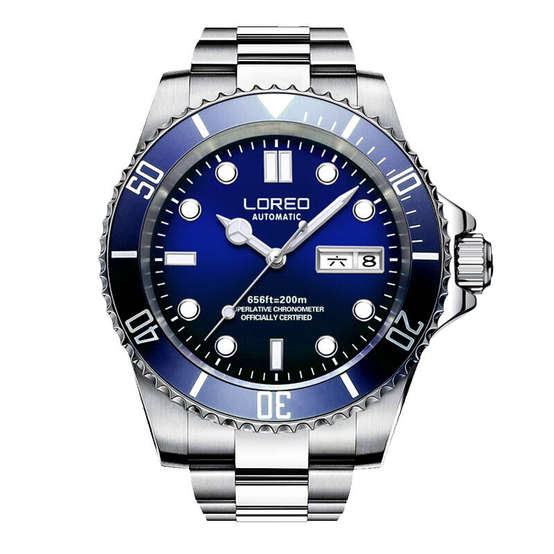 LOREO 9203 Germany watches men luxury brand automatic self-wind luminous DIVER 200M oyster perpetual air-king relogio masculino loreo 9203 germany diver 200m oyster perpetual air king automatic self wind luminous watches men luxury brand stainless steel
