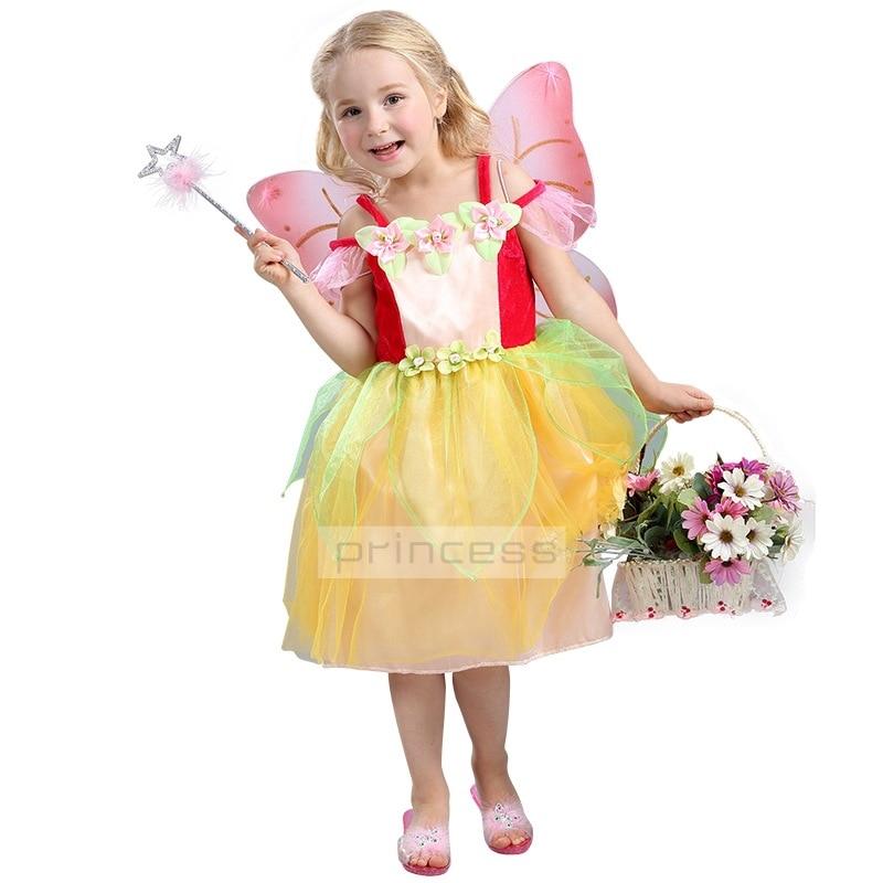 hi bloom princess flower child lunlum girl dress kids faery cosplay dress up halloween costumes for