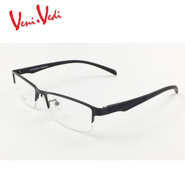 19112d0194 T Veni Vedi men s glasses frame Titanium optical frames eyeglasses eyewear  half frame Square oculos de
