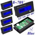 8-Indicador de Capacidade Da Bateria De Lítio bateria de Chumbo Ácido 70 V Azul LCD Voltímetro Digital Voltage Tester Frete Grátis 10000869