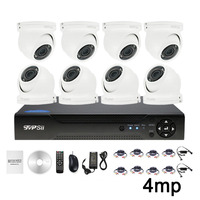 Xmeye 4MP Outdoor Waterproof 12pcs Infrared Leds Mini Dome AHD CCTV Security Camera 8CH 8 Channel